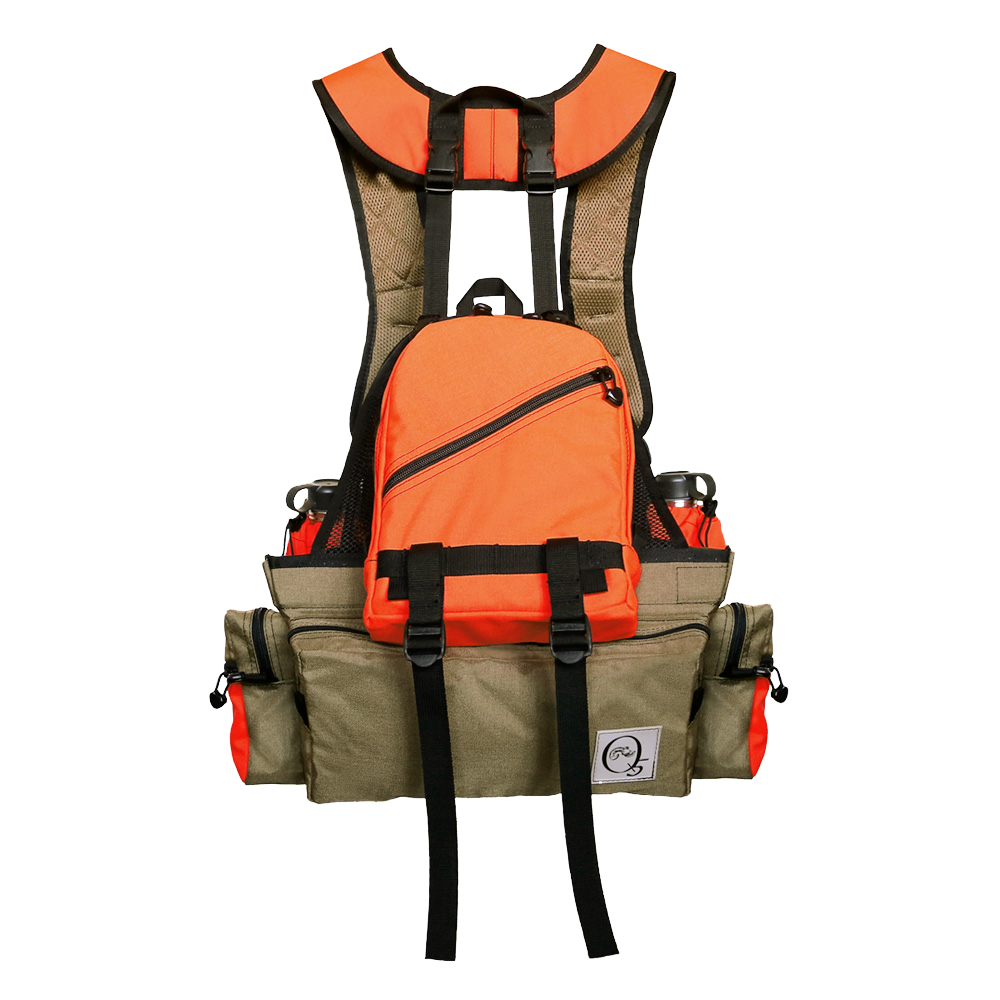 upland game bird hunting vest with hydration